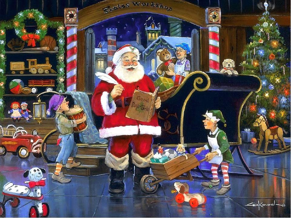 Санта Клаус Если к русским детям приходит Дед Мороз, то к английским детям пр...